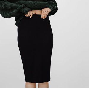 Aritzia | Wilfred- Lis skirt (flecked burgundy)
